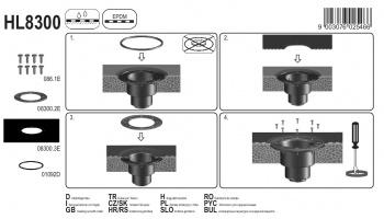 Притискащ пръстен комплект с маншет HL8300