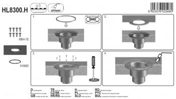 Притискащ пръстен комплект с маншет от битумна-мембрана HL8300.H
