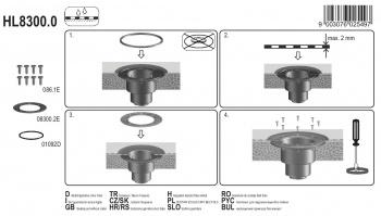 Притискащ пръстен от неръждаема стомана HL8300.0