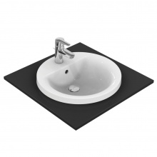 Кръгла мивка за вграждане Connect 48x48