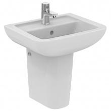 Малка мивка за баня с отвор за батерия Eurovit Plus 45x36
