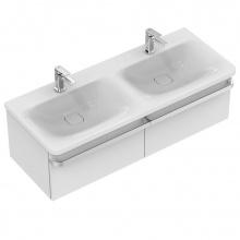 Мивка за баня с две корита и два отвора за батерия Tonic II 120x49
