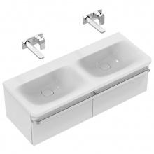 Мивка за баня с две корита и без отвор за батерия Tonic II 120x49