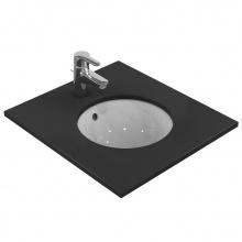 Кръгла мивка за вграждане под плот Connect 38x38