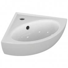 Ъглова мивка за баня с отвор за батерия Eurovit 47,5x24,5