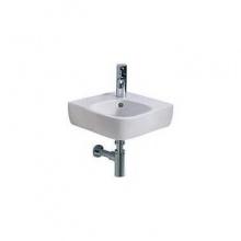Ъглова мивка за баня с отвор за батерия Style 37x50