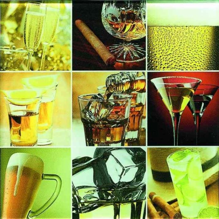 Porto 20x20 Декор Drinks Szklany 20x20
