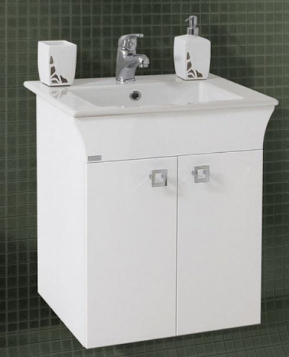 Комплект за баня Линеа 55 PVC Долен шкаф за баня Линеа 55 PVC
