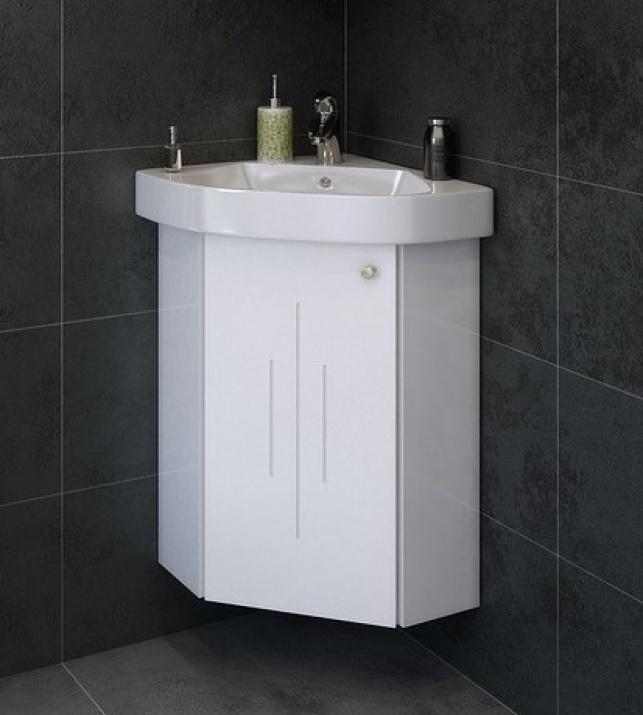 Комплект за баня Кара 46 PVC Долен ъглов шкаф за баня Кара 46 PVC