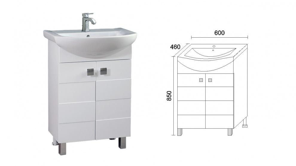 Комплект за баня Ирина Долен шкаф за баня Ирина