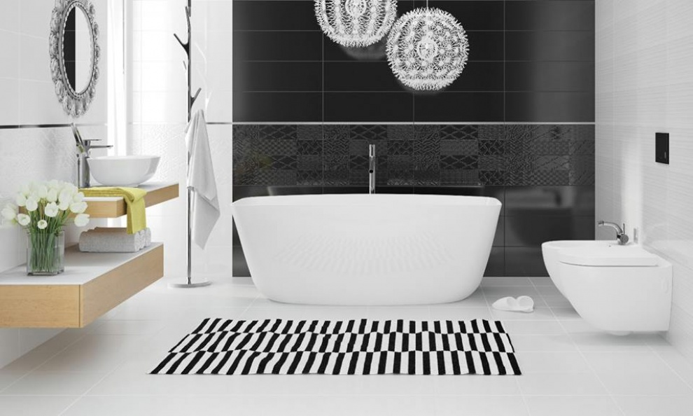 White and Black 20x60