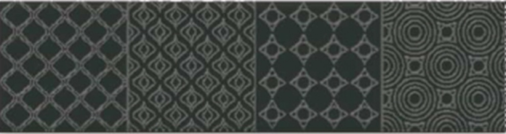 Dolce 7,3x30 Декор Dolce Black 7,3x30