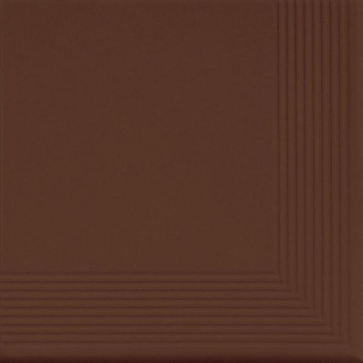 Brown Ъглова стъпална плочка Brown 30x30x1,1