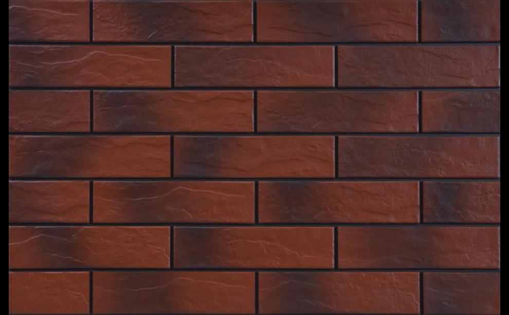 Rot Фасадна рустикална плочка с оттенък Rot 24,5x6,5x0,65
