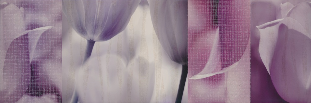 Marcello Violet 25x75 Декор Marcello Tulip Violet 25x75
