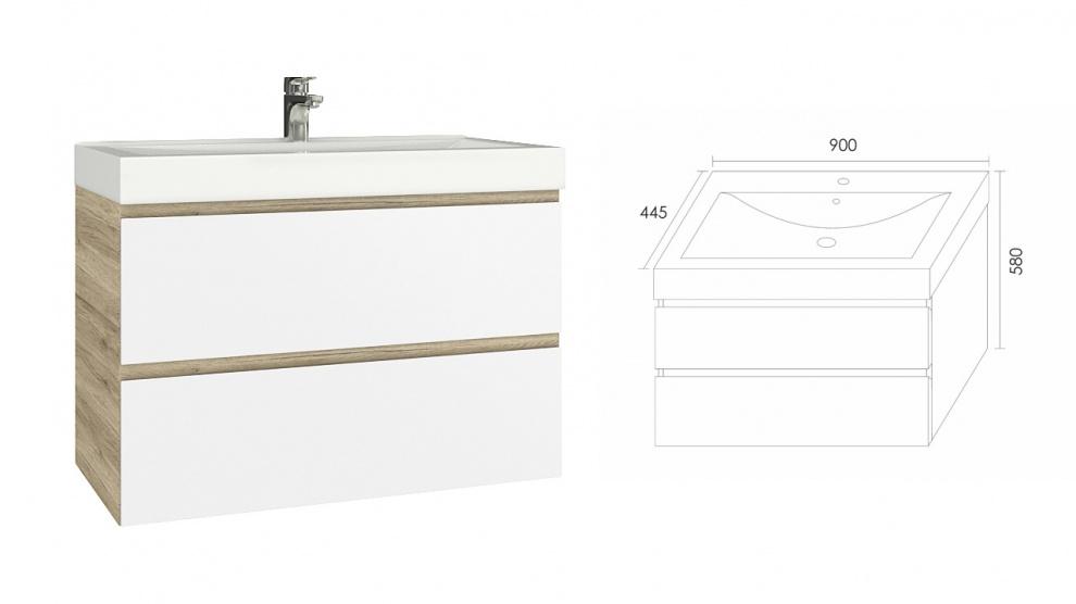 Комплект за баня Бостън Долен шкаф за баня Бостън