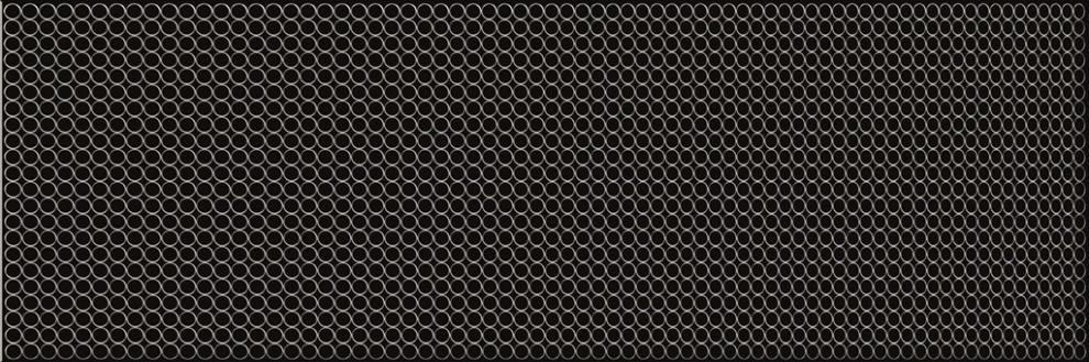 White and Black 20x60 Декор Black Glass Inserto 20x60