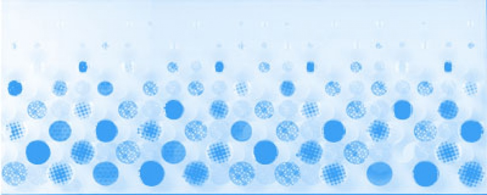 Domenico 20x50 Декор Bubbles Blue 20x50