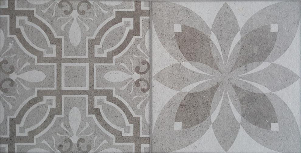 Klio 25x50 Декор Klio Grey 4 25x50