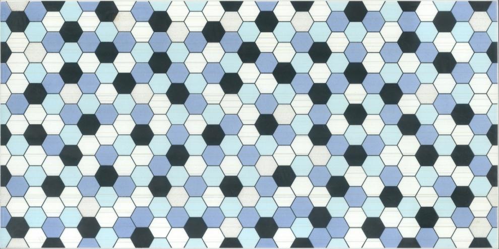 Soho Azul and Celeste 25x50 Декор Soho Azul 25x50