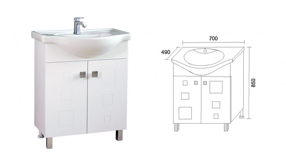 Комплект за баня Дея Долен шкаф за баня Дея