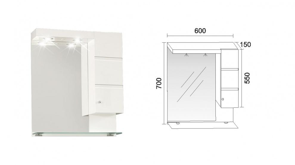 Комплект за баня Емона Горен шкаф за баня Емона