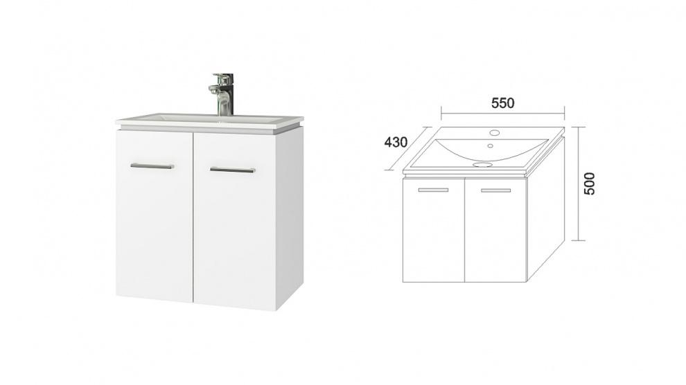Комплект за баня Феникс Долен шкаф за баня Феникс