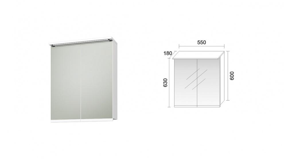 Комплект за баня Феникс Горен шкаф за баня Феникс
