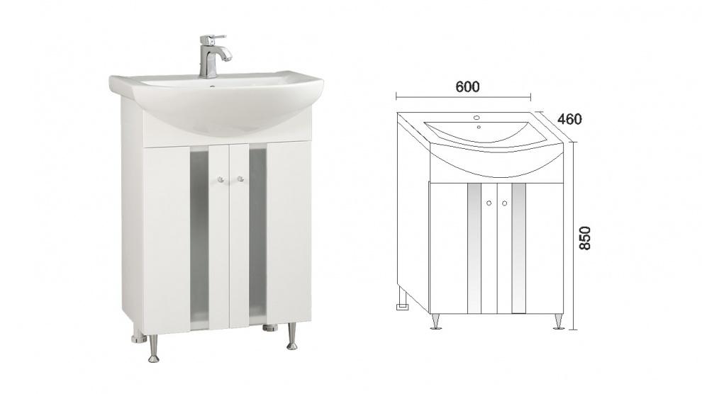Комплект за баня Флора Долен шкаф за баня Флора