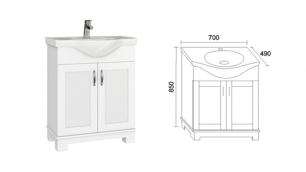 Комплект за баня Хера Долен шкаф за баня Хера
