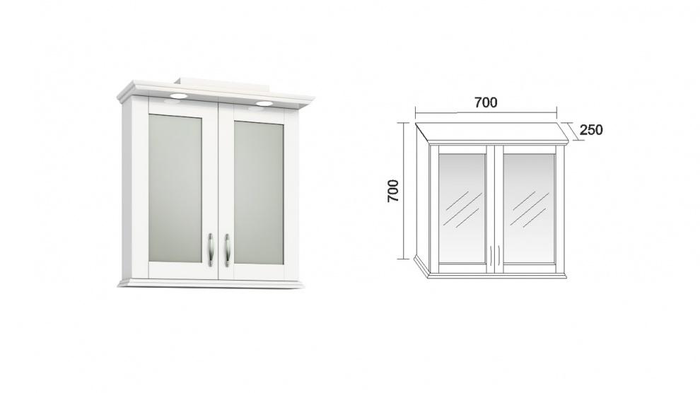 Комплект за баня Хера Горен шкаф за баня Хера