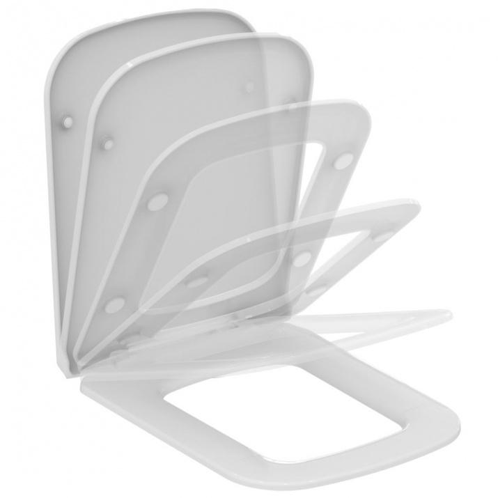 Ултратънък капак за тоалетна чиния с плавно затваряне Strada