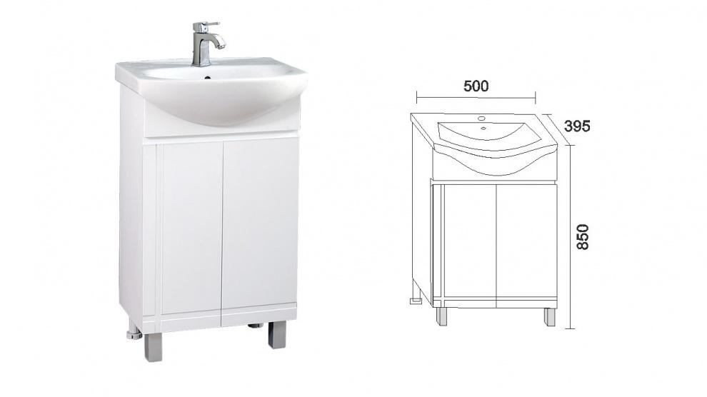 Комплект за баня Ирис Долен шкаф за баня Ирис
