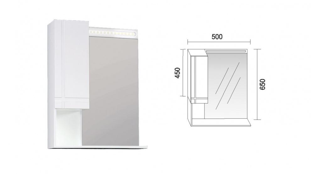 Комплект за баня Ирис Горен шкаф за баня Ирис