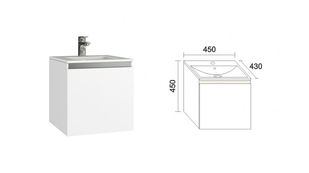 Комплект за баня Изи Долен шкаф за баня Изи