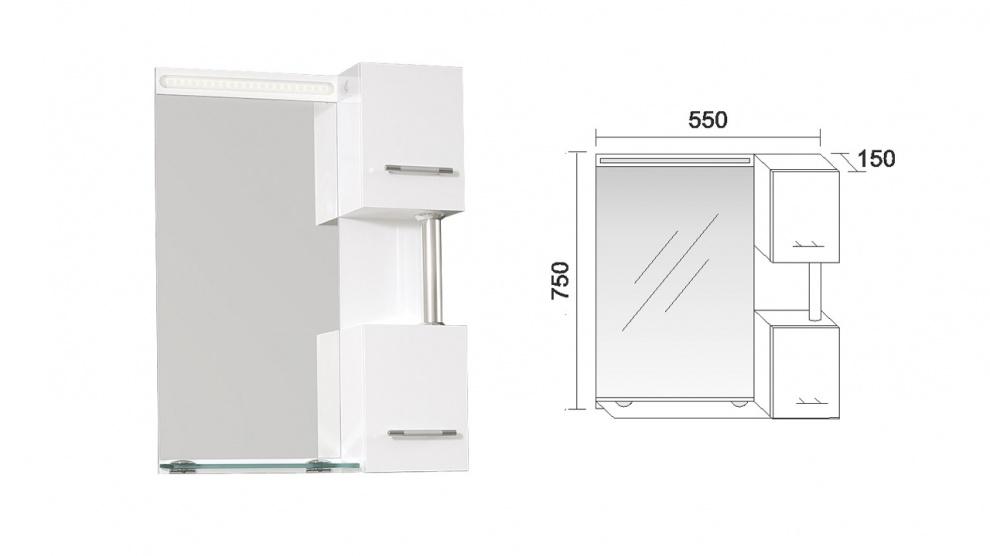 Комплект за баня Криста Горен шкаф за баня Криста