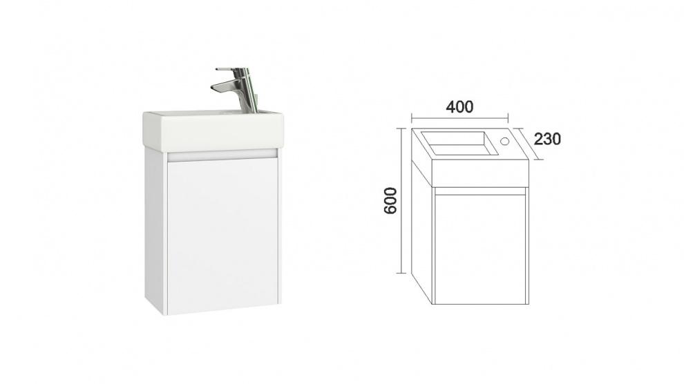 Комплект за баня Лара Долен шкаф за баня Лара