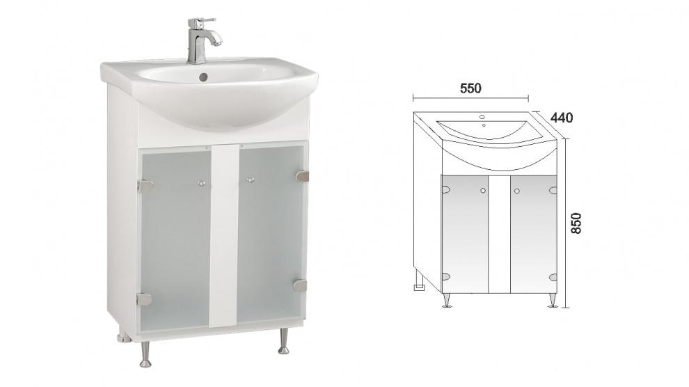 Комплект за баня Лотос Долен шкаф за баня Лотос