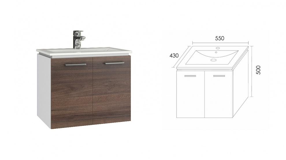Комплект за баня Манхатън Долен шкаф за баня Манхатън