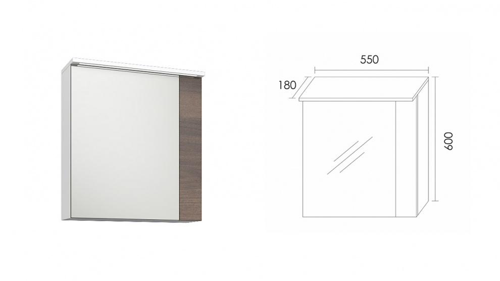 Комплект за баня Манхатън Горен шкаф за баня Манхатън