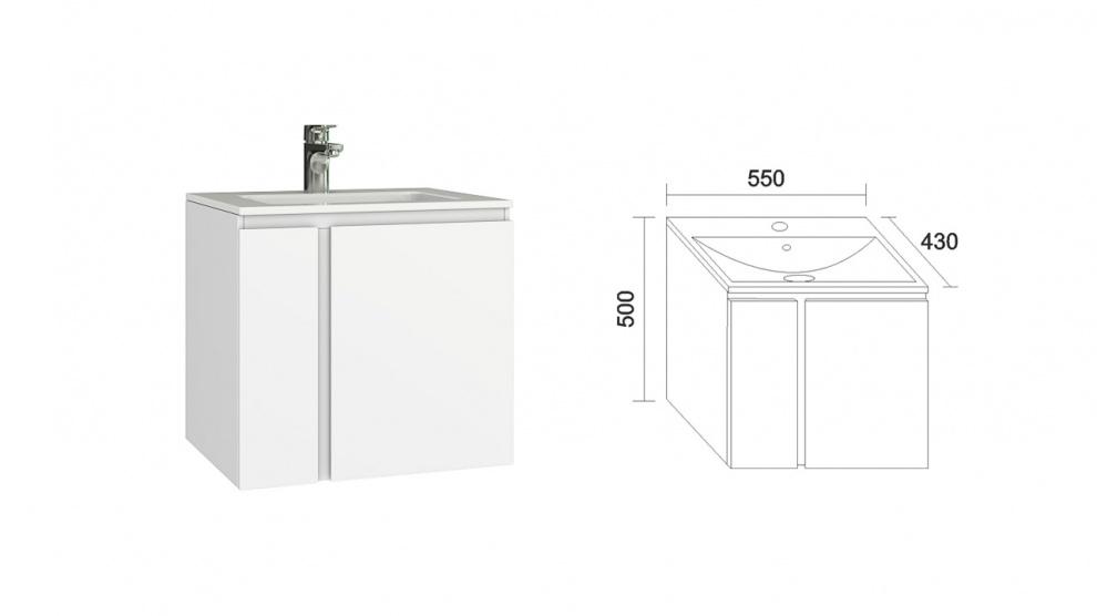 Комплект за баня Мареа Долен шкаф за баня Мареа