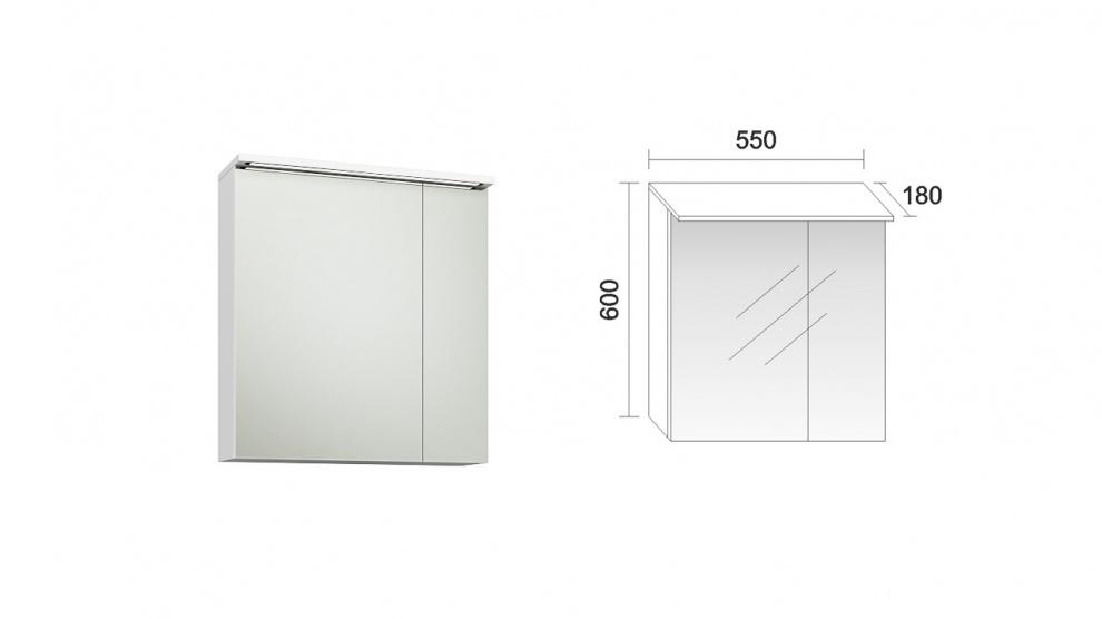 Комплект за баня Мареа Горен шкаф за баня Мареа