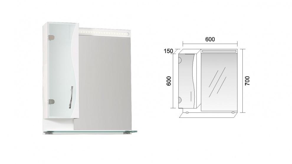 Комплект за баня Мелани Горен шкаф за баня Мелани