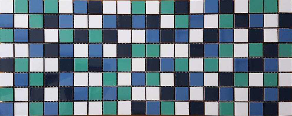 Mina Vert Deau and Touareg 20x50 Мозайка Didie Green Blue 20x50