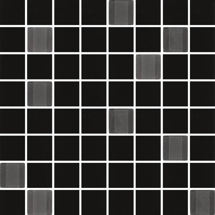 Odeon 25x90 Мозайка Odeon Black 25x25