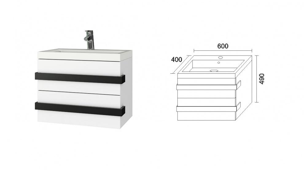 Комплект за баня Омега Долен шкаф за баня Омега