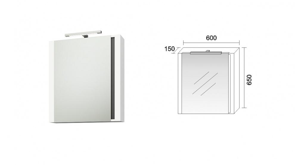 Комплект за баня Омега Горен шкаф за баня Омега