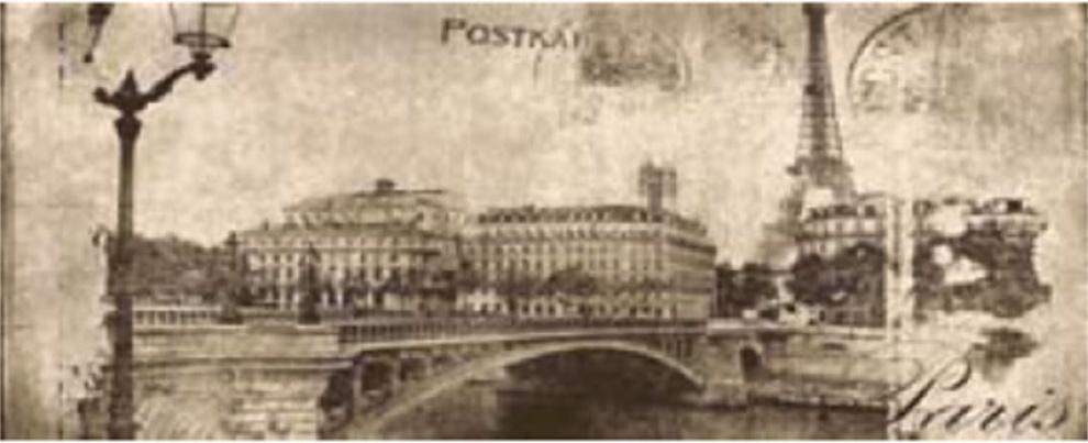 Treviso Cream 20x50 Декор Postcard Beige 1 20x50