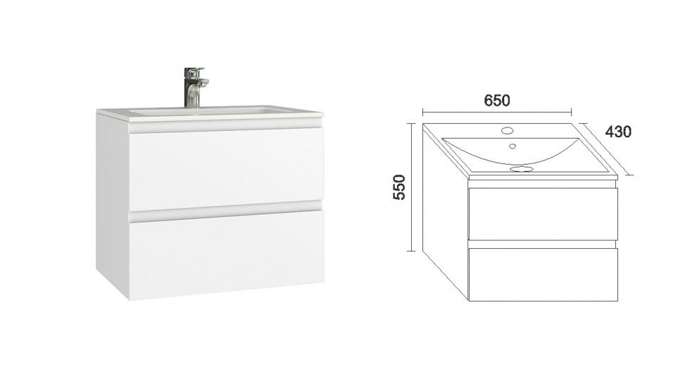 Комплект за баня Прима Долен шкаф за баня Прима