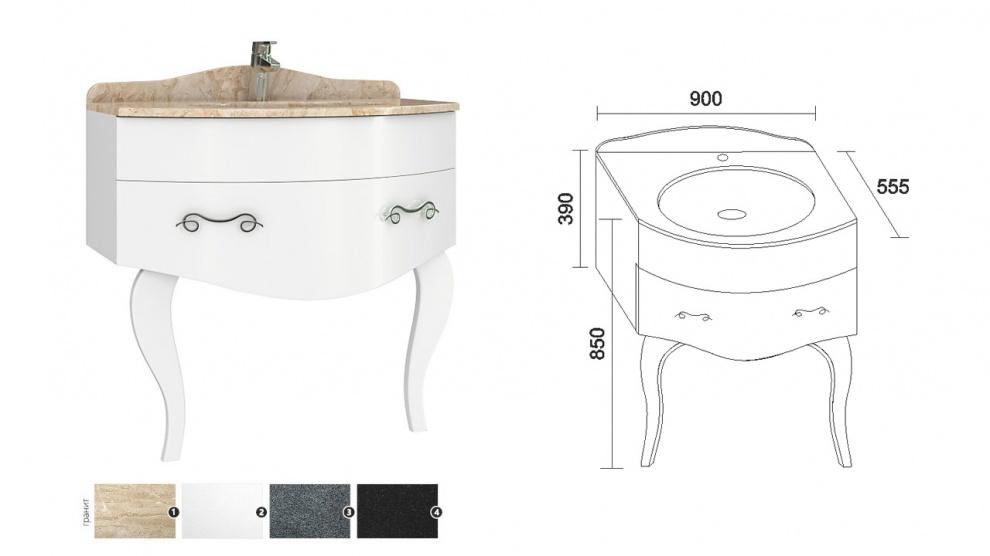 Комплект за баня Реал Долен шкаф за баня Реал